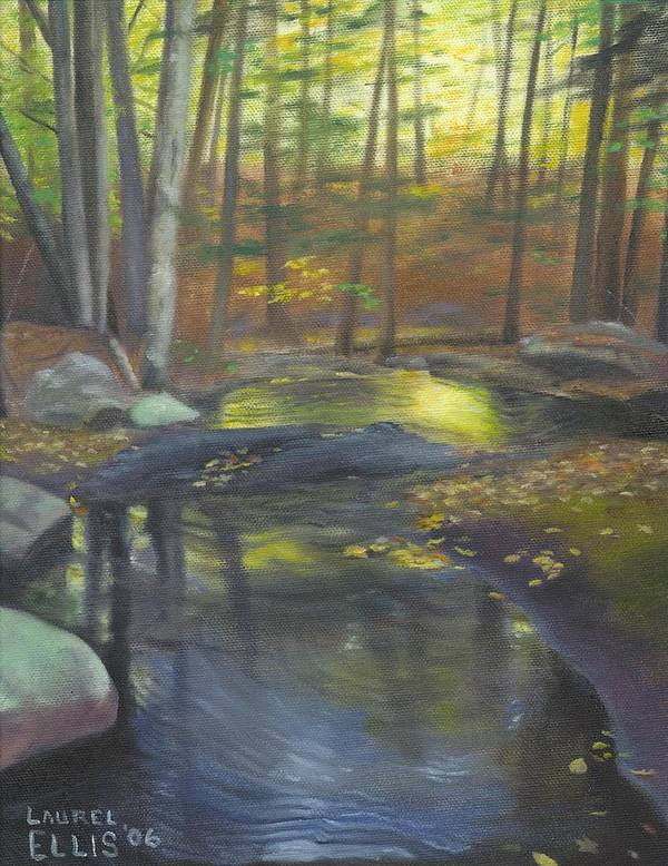 Landscape Poster featuring the painting The Wading Pool by Laurel Ellis
