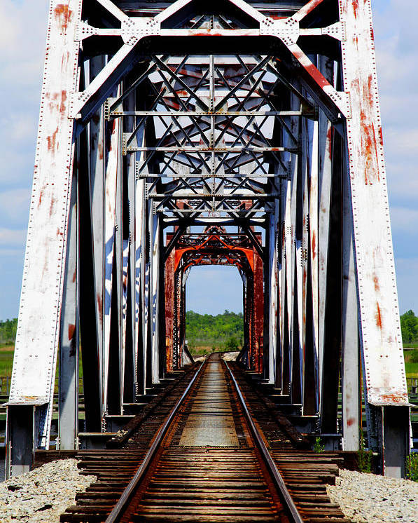 Train Tressels Poster featuring the photograph The Way Is Clear by Karen Wiles