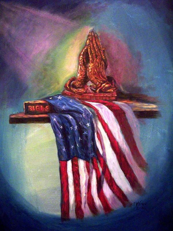 American Flag Poster featuring the painting The Way It Was by Tommy Winn