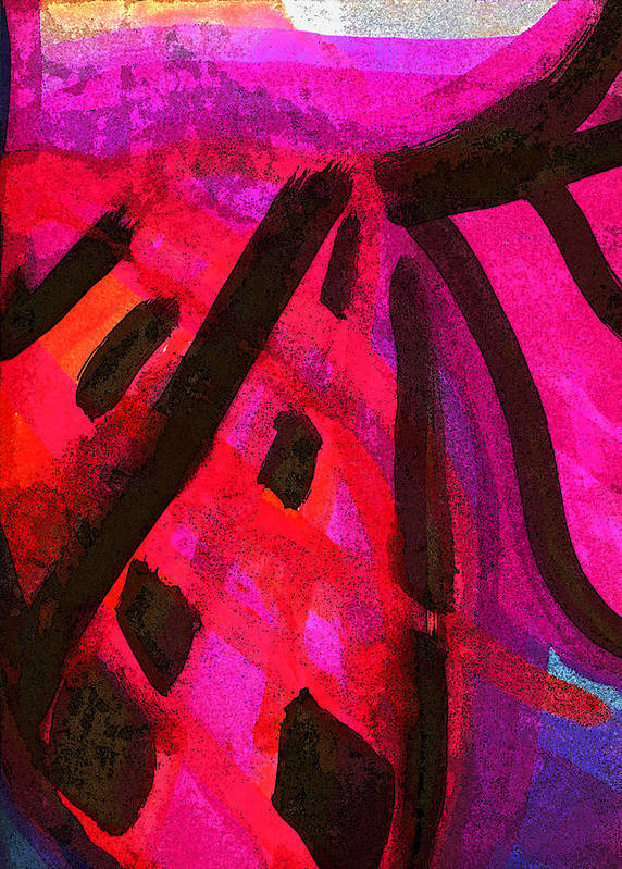 Abstract Expressionism Poster featuring the painting The Way Through The Imbroglio by Steve Minton