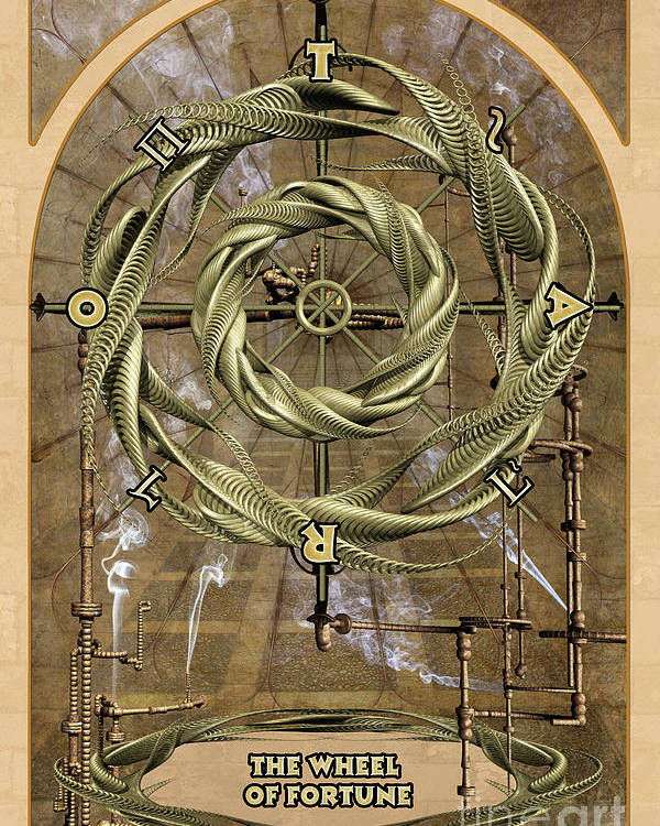 Magic Poster featuring the digital art The Wheel Of Fortune by John Edwards