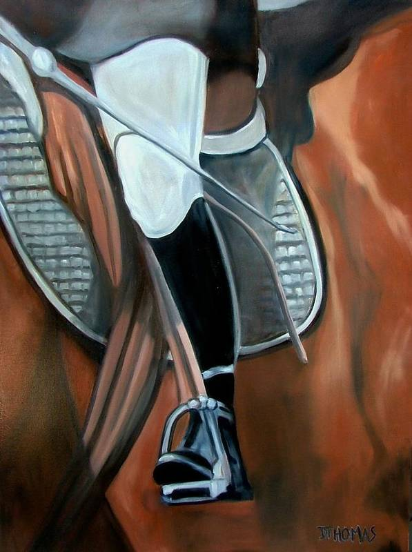 Horse Poster featuring the painting The Whip by Donna Thomas