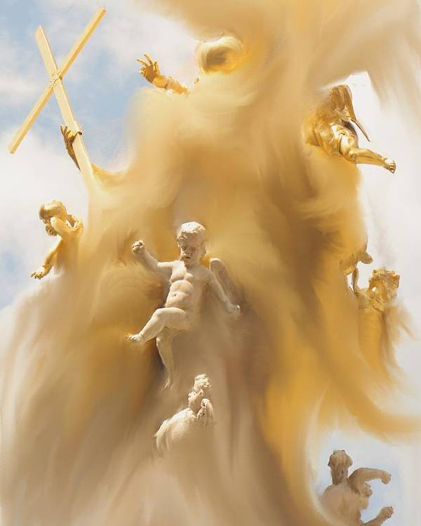 Religion Poster featuring the digital art The Whirlwind by Ian MacDonald