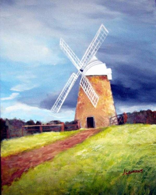 Painting Poster featuring the painting The Windmill by Julie Lamons