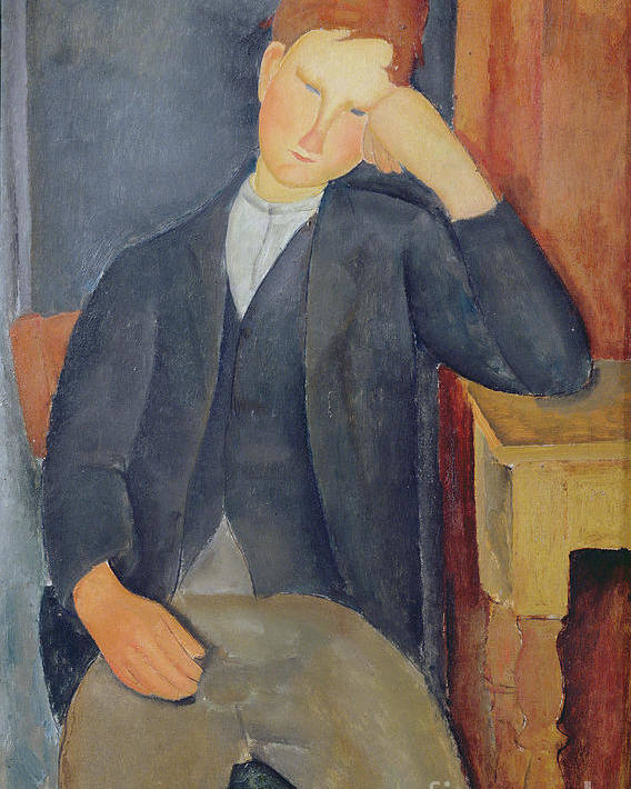 The Poster featuring the painting The Young Apprentice by Amedeo Modigliani