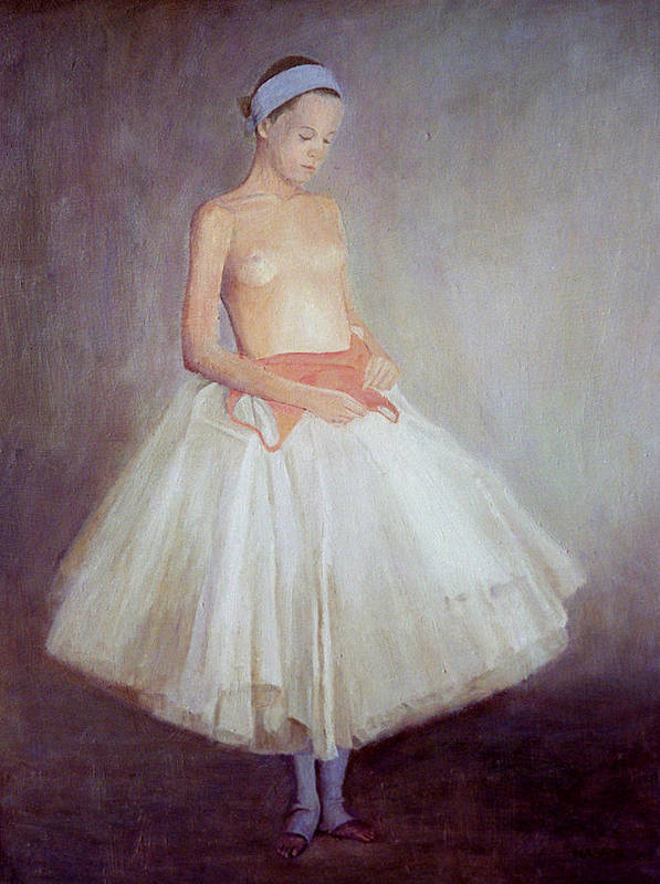 Ballet Poster featuring the painting The Young Dancer by Masami Iida