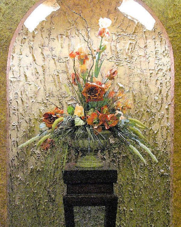 Flowers Poster featuring the digital art Theater Flower Arrangement by Al Blackford
