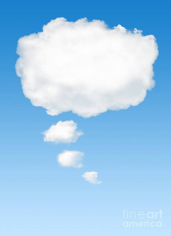 Background Poster featuring the photograph Thinking Cloud by Carlos Caetano