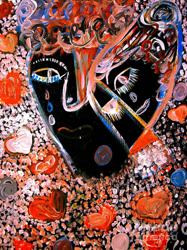 Psychedelic Poster featuring the painting This Is Not Love Dear by Safak Tulga