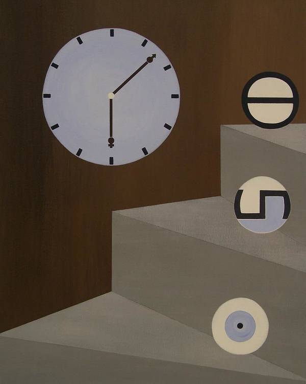 Time Poster featuring the painting Three Stages Of Life by Sandy Bostelman