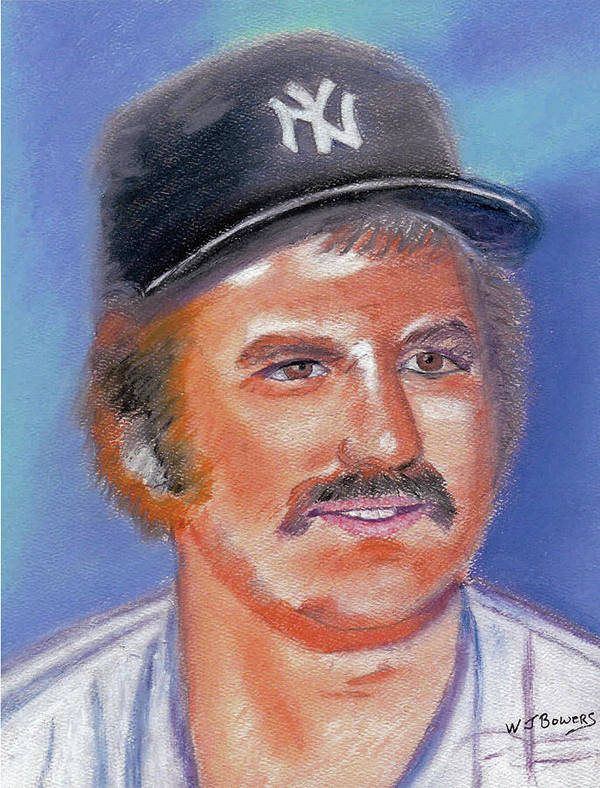 Thurman Poster featuring the painting Thurman Munson by William Bowers