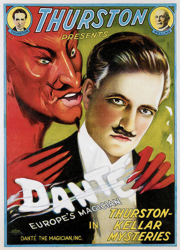 Dante. Thurston-keller Mysteries Poster featuring the painting Thurston Presents Dante by Unknown
