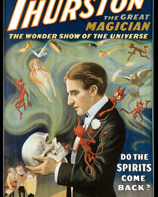 Thurston The Great Magician Poster featuring the painting Thurston The Great Magician by Unknown
