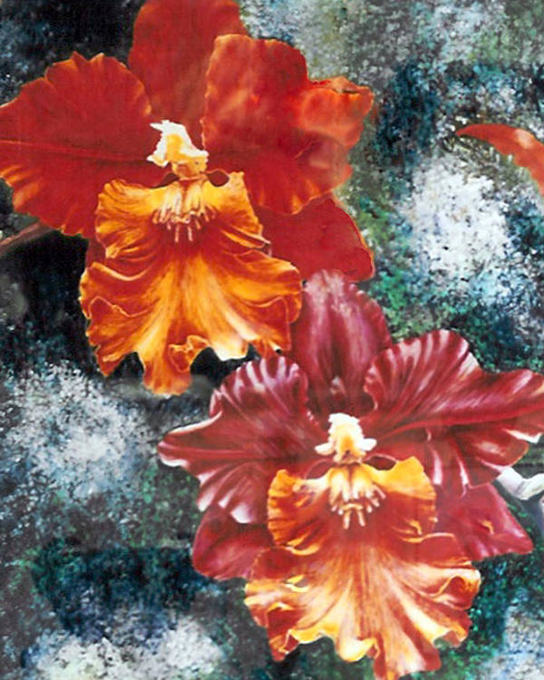 Flowers Poster featuring the print Tiger Orchids by JoLyn Holladay