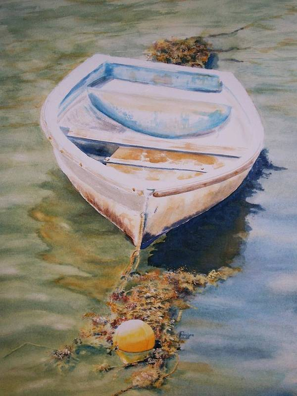 Boat Poster featuring the painting Time N Tide by Janice Gell