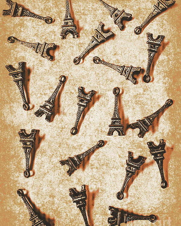 France Poster featuring the photograph Time Worn Trinkets From Vintage Paris by Jorgo Photography - Wall Art Gallery