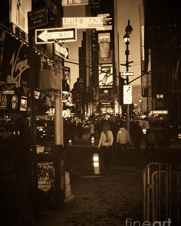 New York Poster featuring the photograph Times Square by Debbi Granruth