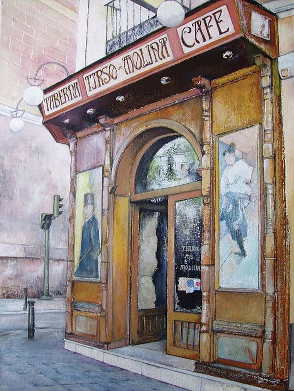 Tirso Poster featuring the painting Tirso De Molina Old Tavern by Tomas Castano