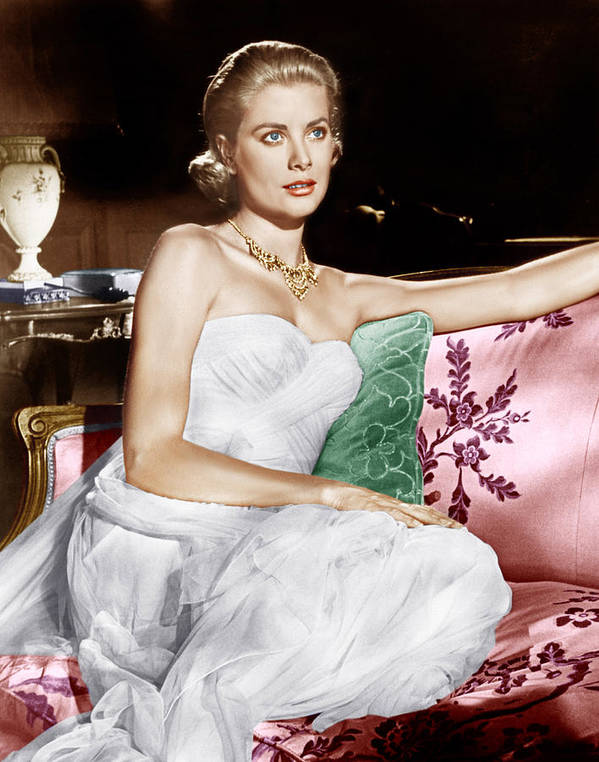1950s Portraits Poster featuring the photograph To Catch A Thief, Grace Kelly, 1955 by Everett
