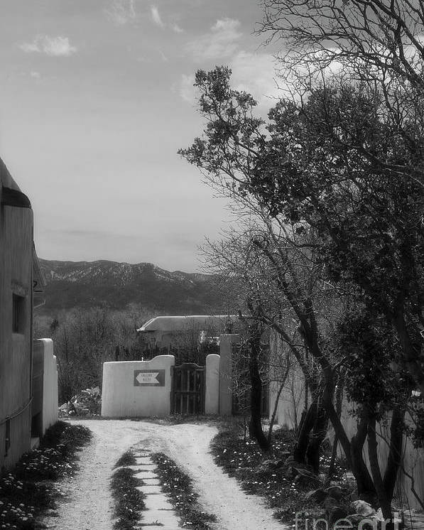 Taos New Mexico Poster featuring the photograph To The Gallery by David Waldrop