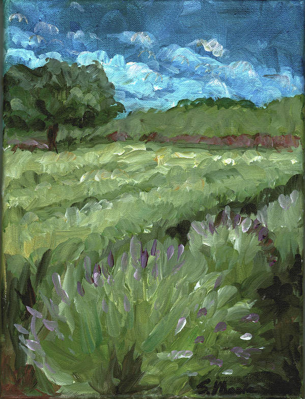 Landscape Poster featuring the painting Today by Susan Moore