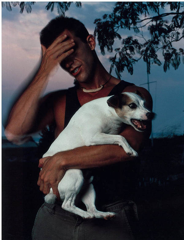 Male Poster featuring the photograph Todd And Winston by Rusty Walton