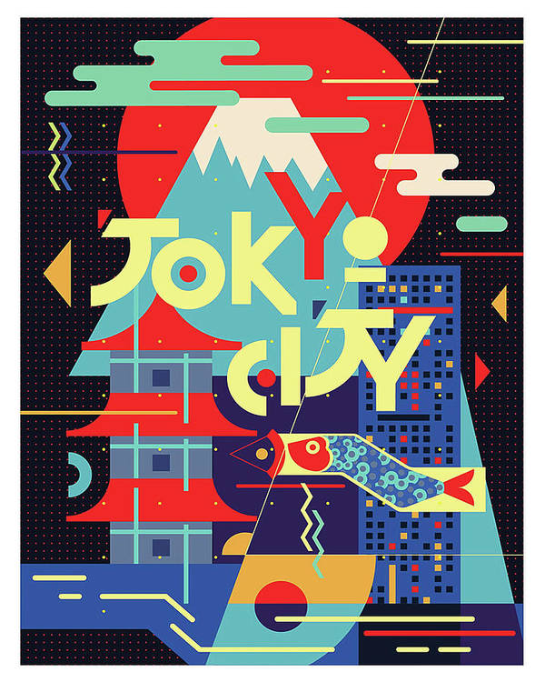 Tokyo City, Japan, Vintage Travel Poster Poster By Long Shot