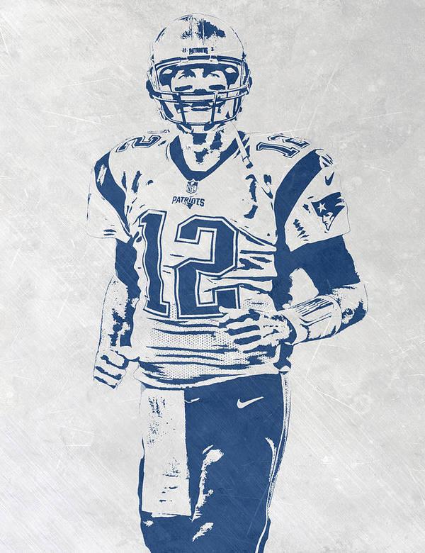 0a927ced41ff5 Tom Brady New England Patriots Pixel Art 2 Poster