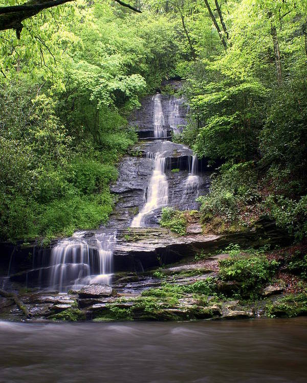 Waterfalls Poster featuring the photograph Tom Branch Falls by Marty Koch