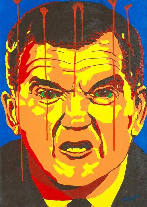 Politics Poster featuring the painting Tom Ridge by Dennis McCann