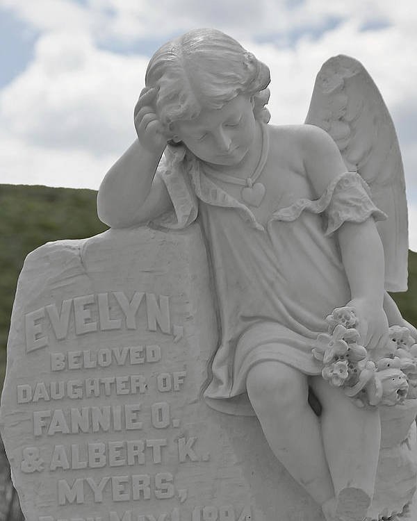 Bodie Poster featuring the photograph Tombstone Angel For An Angel by Christine Till