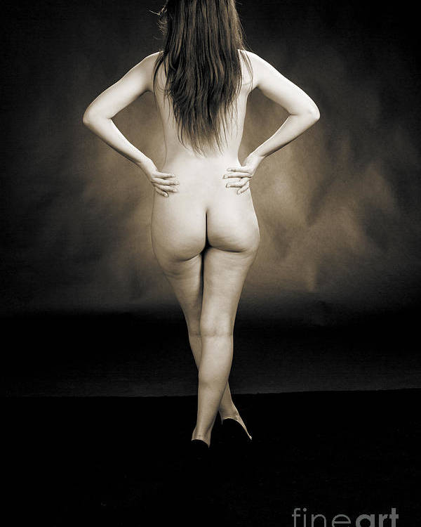 Toriwaits Poster featuring the photograph Toriwaits Nude Fine Art Print Photograph In Black And White 5123 by Kendree Miller