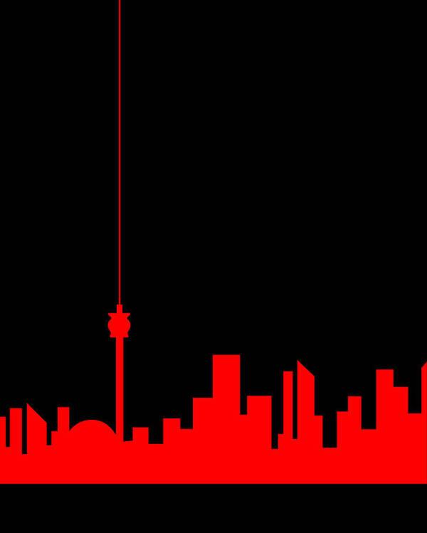 Toronto Poster featuring the painting Toronto Skyline by Asbjorn Lonvig