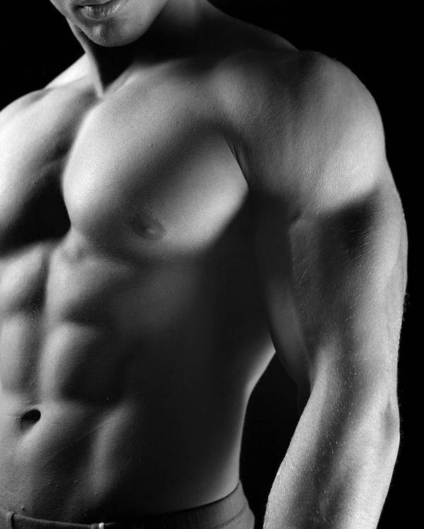 Male Poster featuring the photograph Torso Of Model J by Dan Nelson