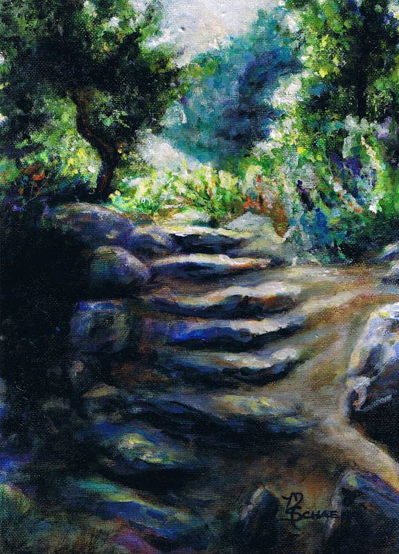 Santa Barbara Botanical Gardens Poster featuring the painting Toward The Light by M Schaefer