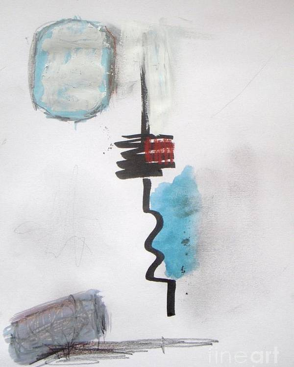 Abstract Poster featuring the painting Tower by Vesna Antic