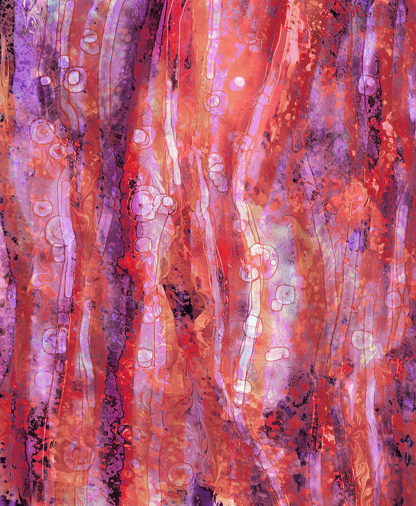 Abstract Poster featuring the digital art Traces by Rachel Christine Nowicki