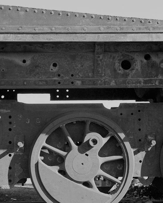 Train Poster featuring the photograph Train Wheel by Marcus Best
