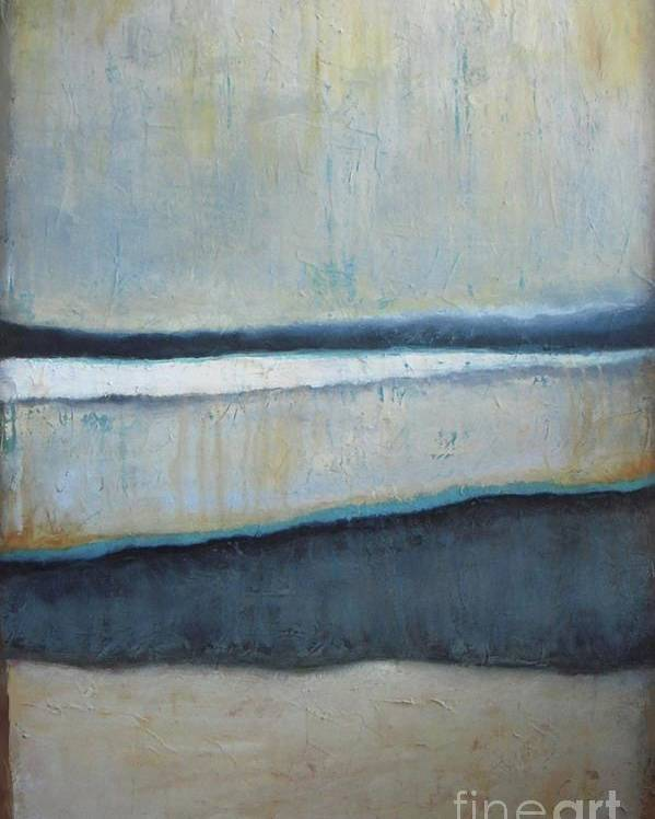Abstract Poster featuring the painting Tranquility Of The Dusk by Vesna Antic