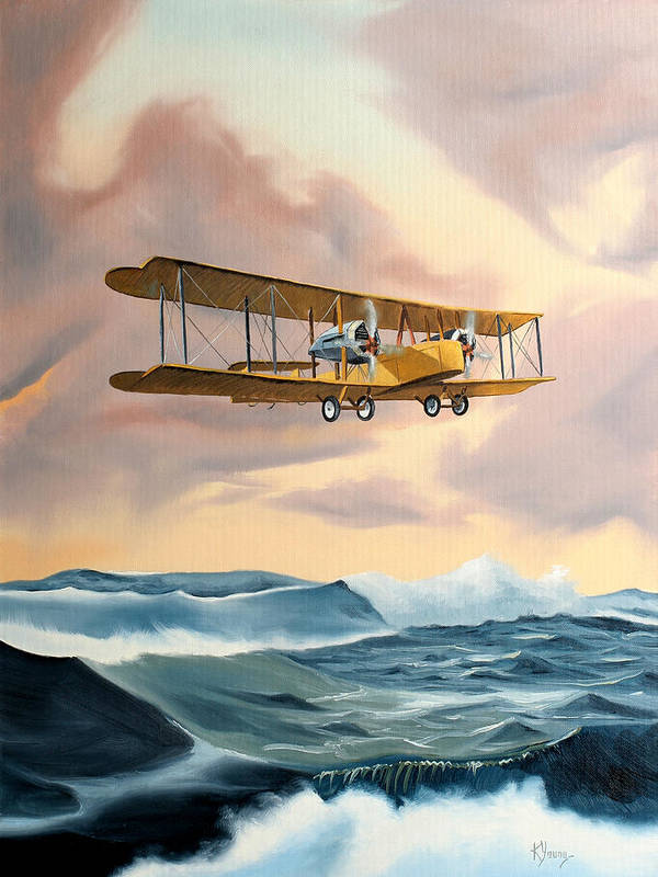 Aircraft Art Poster featuring the painting Transatlantic by Kenneth Young