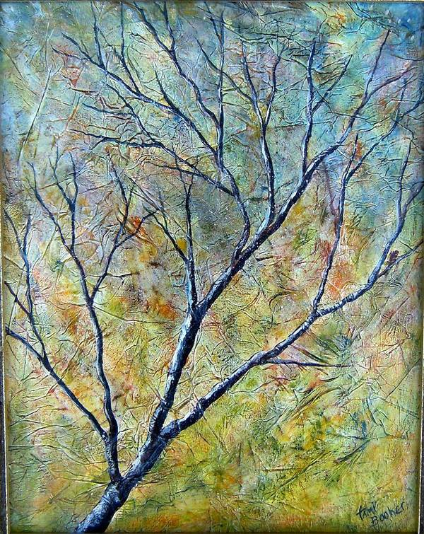 Poster featuring the painting Tree Number One by Tami Booher