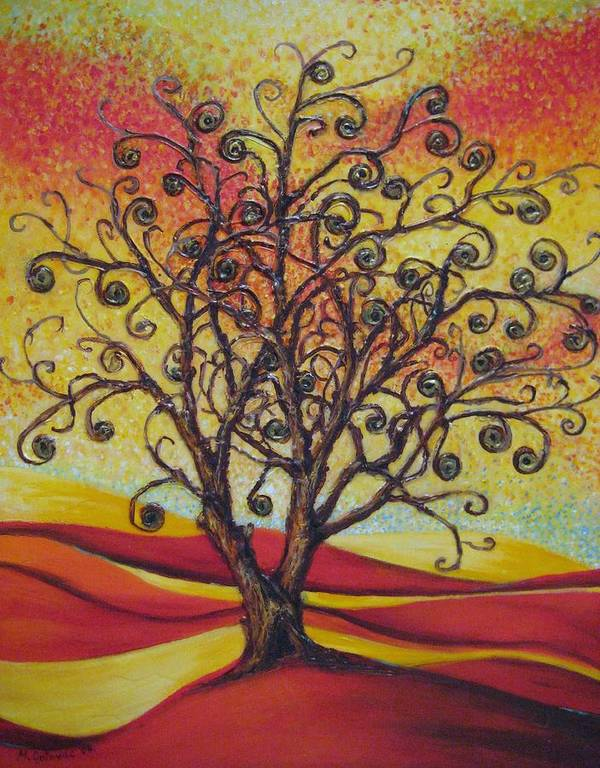 Tree Poster featuring the painting Tree Of Life by Mirjana Gotovac