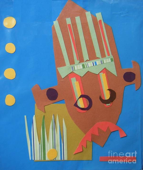 African Poster featuring the mixed media Tribal Mask by Debra Bretton Robinson