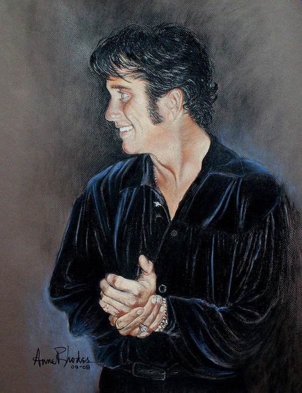 Portrait Poster featuring the painting Tribute Artist by Anne Rhodes