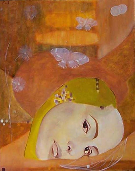 Figurative Poster featuring the painting Trio by Antoaneta Melnikova- Hillman
