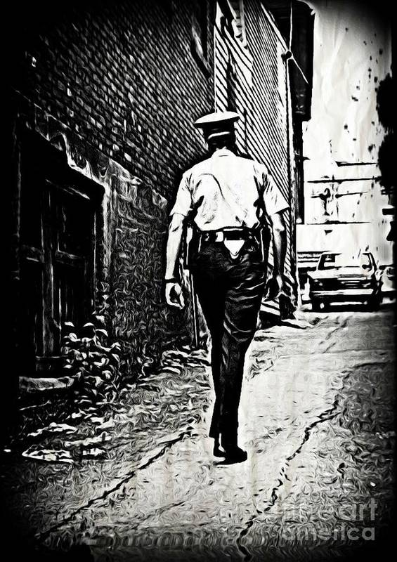 Police Cards Poster featuring the photograph True Grit by John Malone