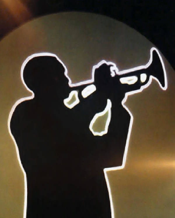 Classic Poster featuring the photograph Trumpet - Classic Jazz Music All Night Long by Christine Till