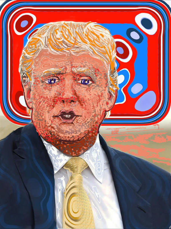 Donald Trump Poster featuring the digital art Trumpfffffft by Stoy Greenwood