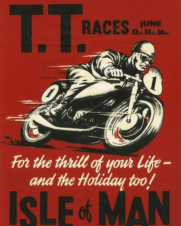 Tt Poster featuring the digital art Tt Races 1961 by Georgia Fowler
