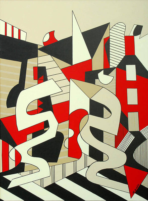 Abstract Expressionism Poster featuring the painting Tulcea by Marta Giraldo